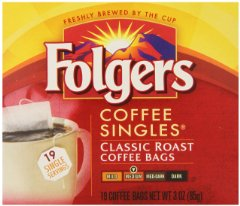 Classic Roast Coffee Singles by Folgers