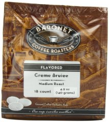 Creme Brulee Medium Roast Coffee Pods by Baronet Coffee