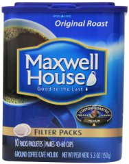 Ground Coffee Filter Packs by Maxwell House