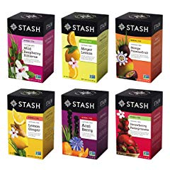 Stash Tea Fruity Herbal Tea Six Flavor Assortment