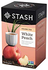 Stash Tea White Peach Wuyi Oolong Tea 18 Count Tea Bags