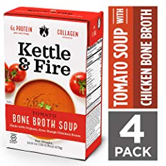 Tomato Soup with Chicken Bone Broth by Kettle and Fire