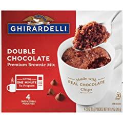 Ghirardelli Mug Brownie Mix, Double Chocolate