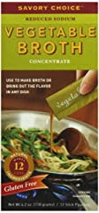 Savory Choice Liquid Reduced Sodium Vegetable Broth Concentrate